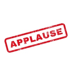 Applause text rubber stamp vector