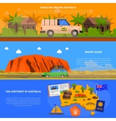 Australia Banners Set vector image vector image