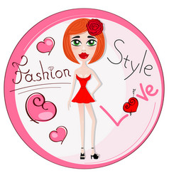 beautiful girl in dress vector image vector image