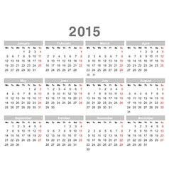 Calendar 2015 03 vector image vector image