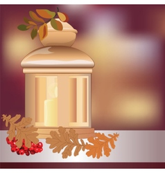 Christmas candle light vector image