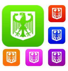 coat of arms of germany set collection vector image vector image