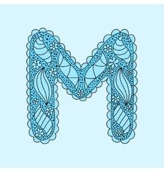 Cute letter m floral monogram m vector