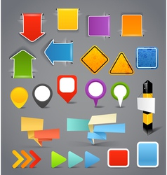 Different content banners templates vector image vector image