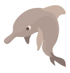 dolphin icon cartoon style vector image
