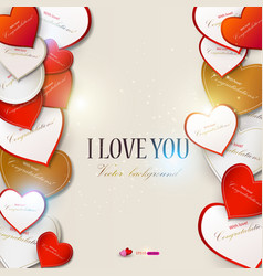 Elegant background with hearts valentines day vector