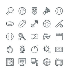Gaming Cool Icons 4 vector image