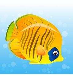 Golden butterfly fish vector