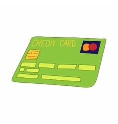 Green credit card icon cartoon style vector image vector image