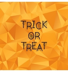 Halloween background trick or treat vector