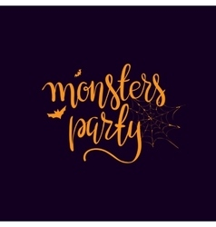Halloween party template typography elements vector