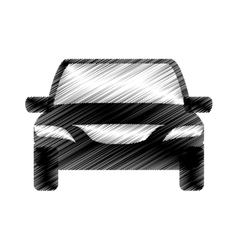 hand drawing car transport design icon vector image vector image
