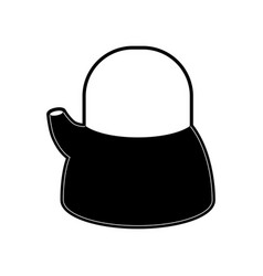 kettle jar flat black silhouette vector image