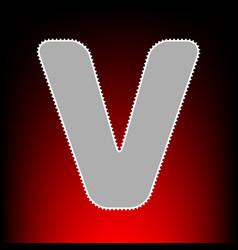 letter v sign design template element postage vector image vector image