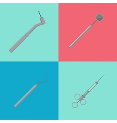Medical equipment tools for teeth dental care vector image