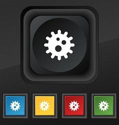 Naval mine icon symbol set of five colorful vector