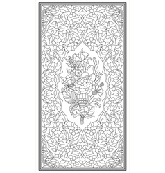 Ottoman art of illumination vector image