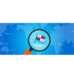 panama map world location flag vector image vector image