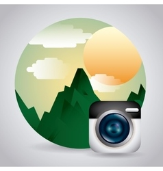 photography concept design vector image