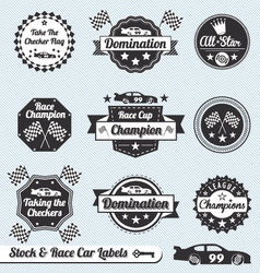 Race Car Labels and Sticker vector image vector image