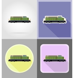 Railway transport flat icons 15 vector