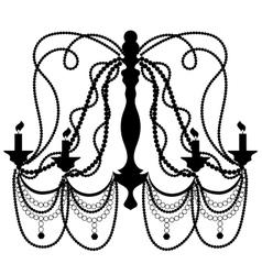 Retro cryctal chandelier vector