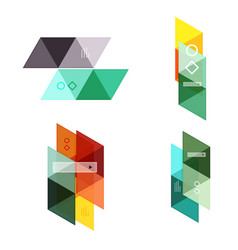 set of blank geometric infographic web vector image
