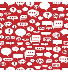 Speech bubbles pattern on red background vector image