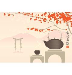 Tea gate vector