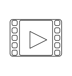 video player media vector image vector image