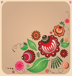 Floral russian style design vector