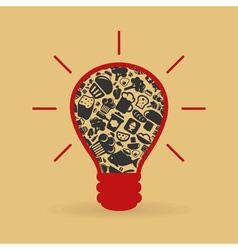 Food a bulb vector