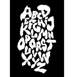 Ragged horror font alphabet vector