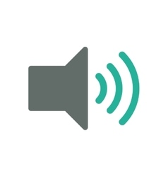 Music volume control vector image