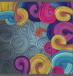 Colorful linear wavy texture vector