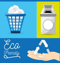 Set icon for the planet conservation vector