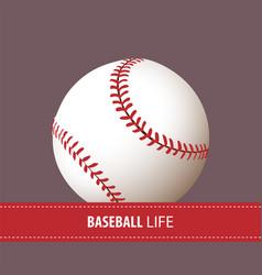 Close up baseball ball vector