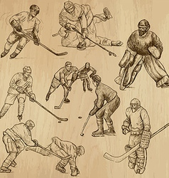 Ice hockey - an hand drawn pack vector