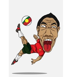 Soccer player portugal vector
