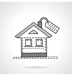 Housing abstract line icon vector