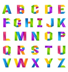 Fun english alphabet one line colorful letters set vector
