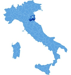 Map of italy ravenna vector