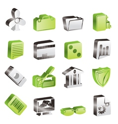 Simple Business and Office Icons vector image