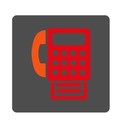 Fax rounded square button vector