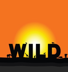 Wilderness in colorful vector