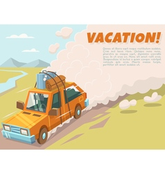 Vacation background with space for text vector