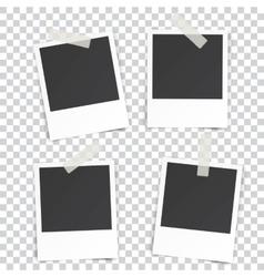 four Retro blank photography vector image
