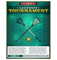 Lacrosse tourney bracket flyer vector