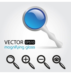 a magnifying glass icon vector image vector image