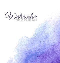 Abstract water color background vector image vector image